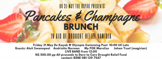 Pancakes and Champagne Fundraiser for Drought Relief in Namibia